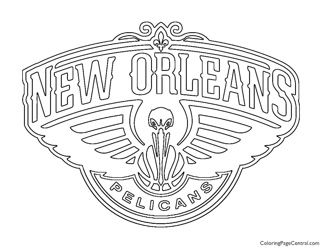 NBA New Orlean Pelicans Logo Coloring Page