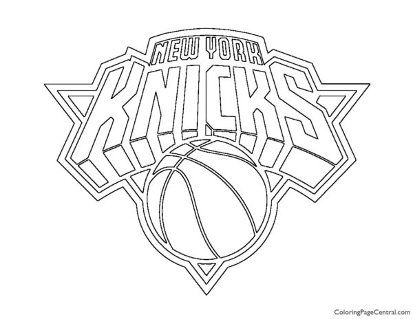 NBA New York Knicks Logo Coloring Page