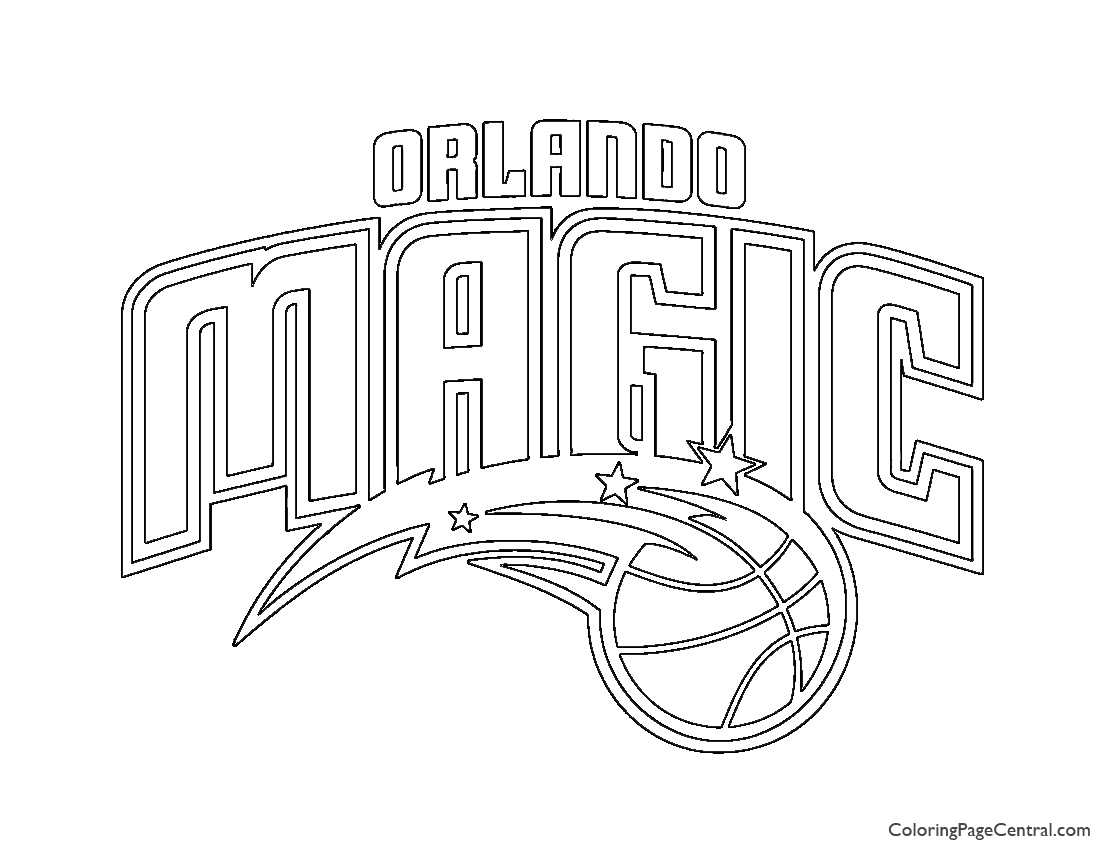 NBA Orlando Magic Logo Coloring Page