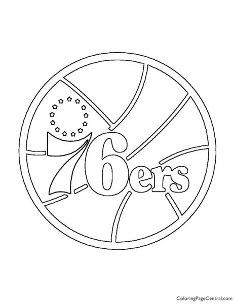 NBA Philadelphia 76ers Logo Coloring Page