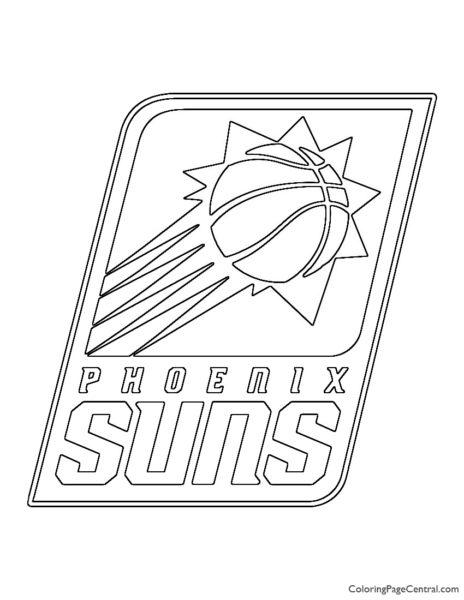 NBA Phoenix Suns Logo Coloring Page