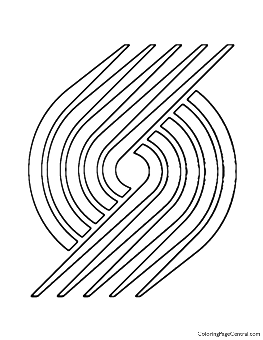 Nba Portland Trail Blazers Logo Coloring Page Coloring Page Central
