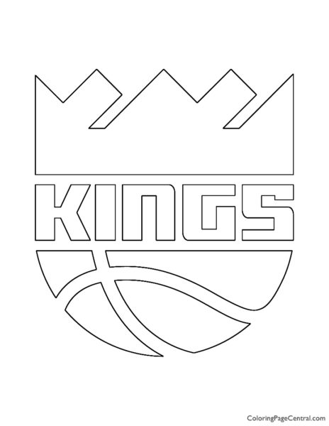 NBA Sacramento Kings Logo Coloring Page