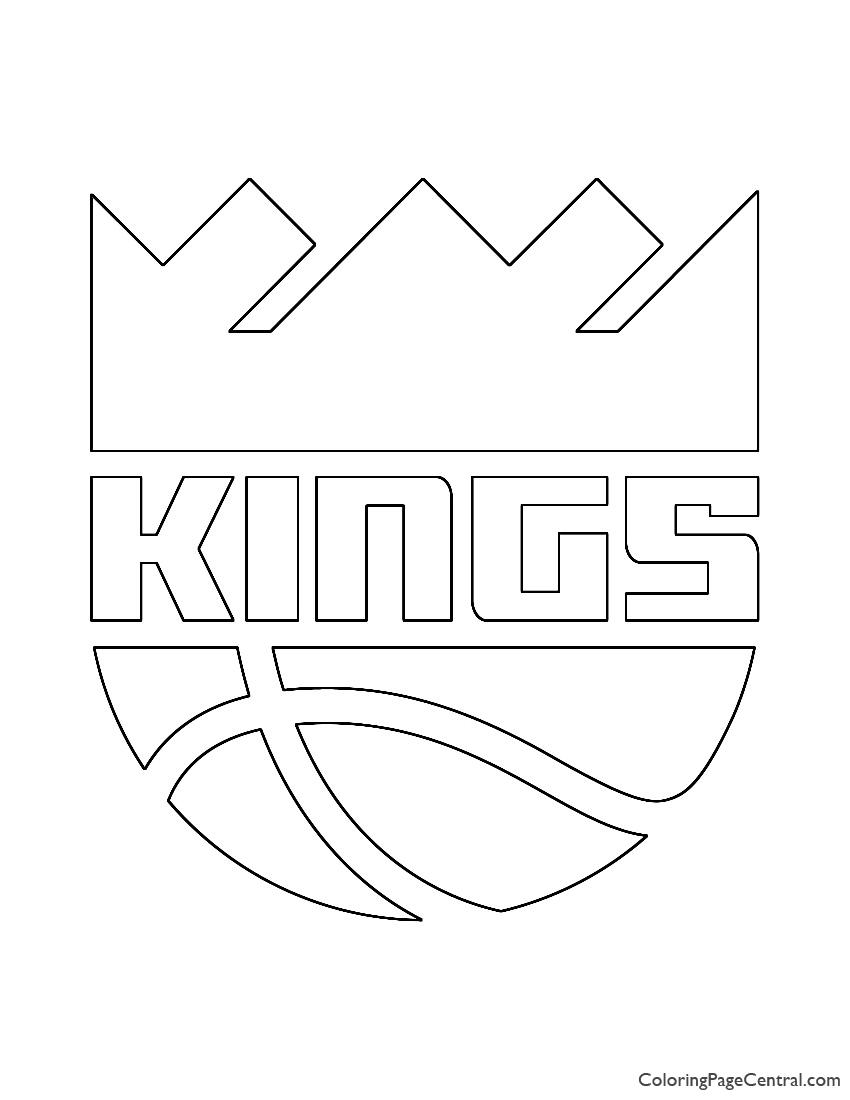 NBA Sacramento Kings Logo Coloring Page