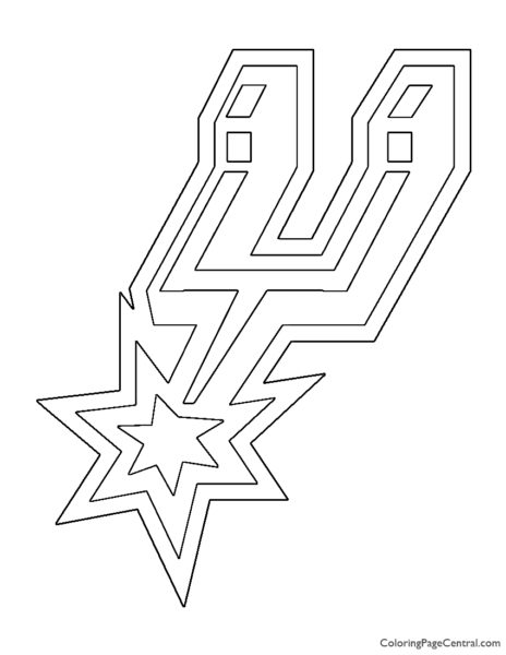 NBA San Antonio Spurs Logo Coloring Page