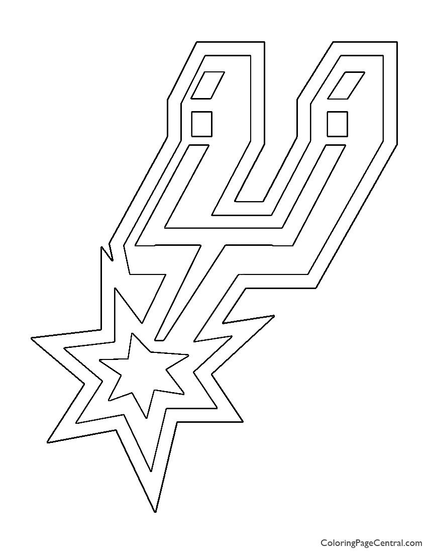 NBA San Antonio Spurs Logo Coloring Page