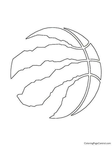 NBA Toronto Raptors Logo Coloring Page