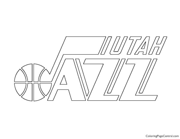 NBA Utah Jazz Logo Coloring Page