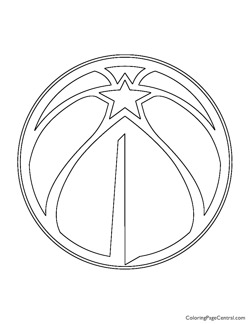 NBA Washington Wizards Logo Coloring Page