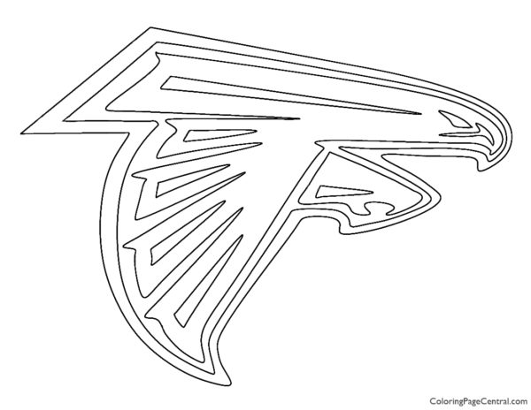 NFL Atlanta Falcons Coloring Page