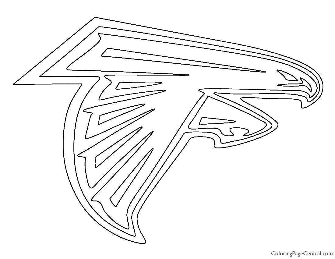NFL Atlanta Falcons Coloring Page