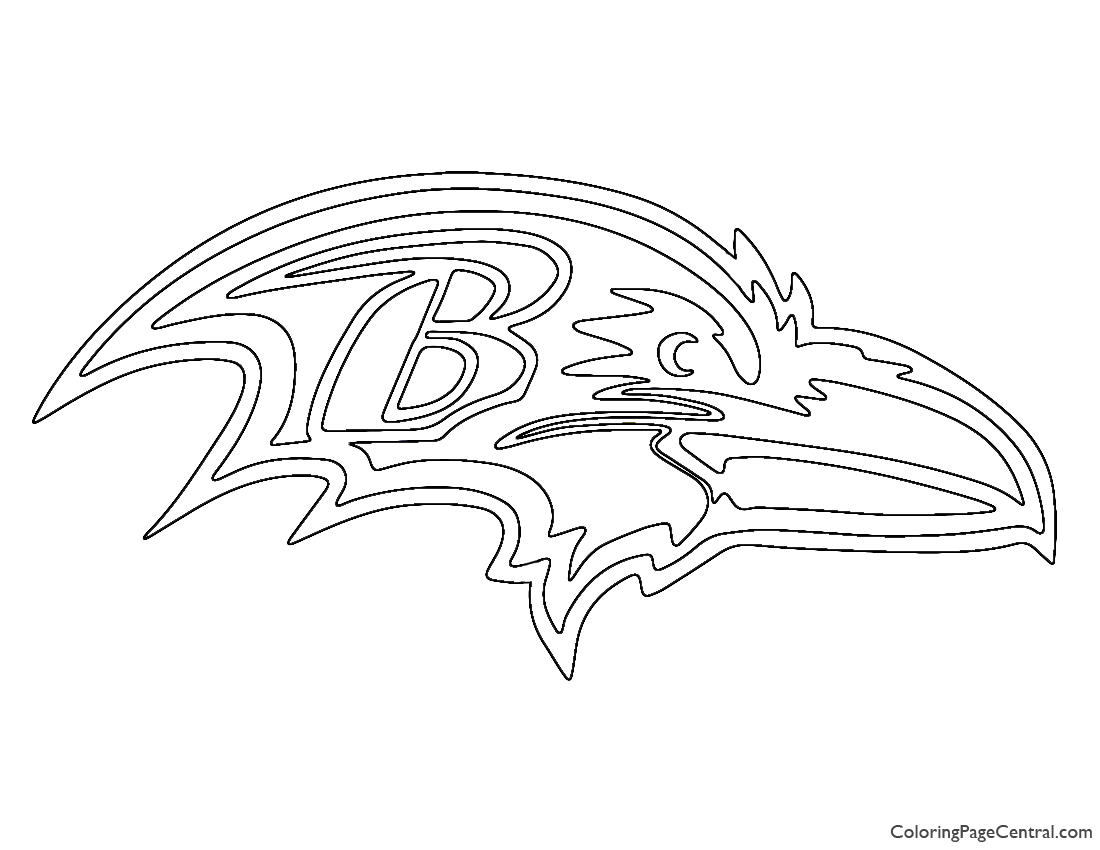 NFL Baltimore Ravens Coloring Page