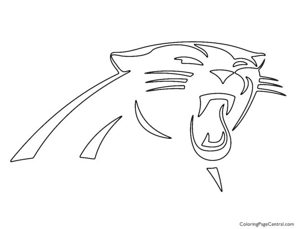 NFL Carolina Panthers Coloring Page
