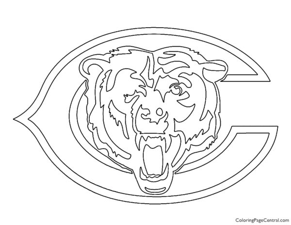 NFL Chicago Bears Coloring Page