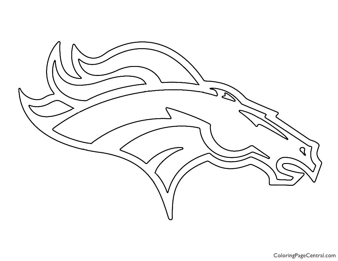 NFL Denver Broncos Coloring Page
