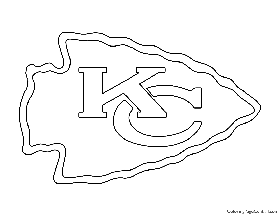NFL Kansas City Chiefs Coloring Page