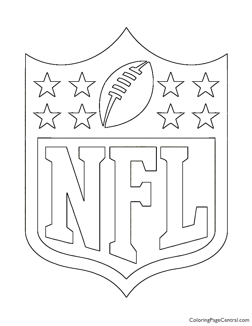 Nfl Logo Coloring Page Coloring Page Central