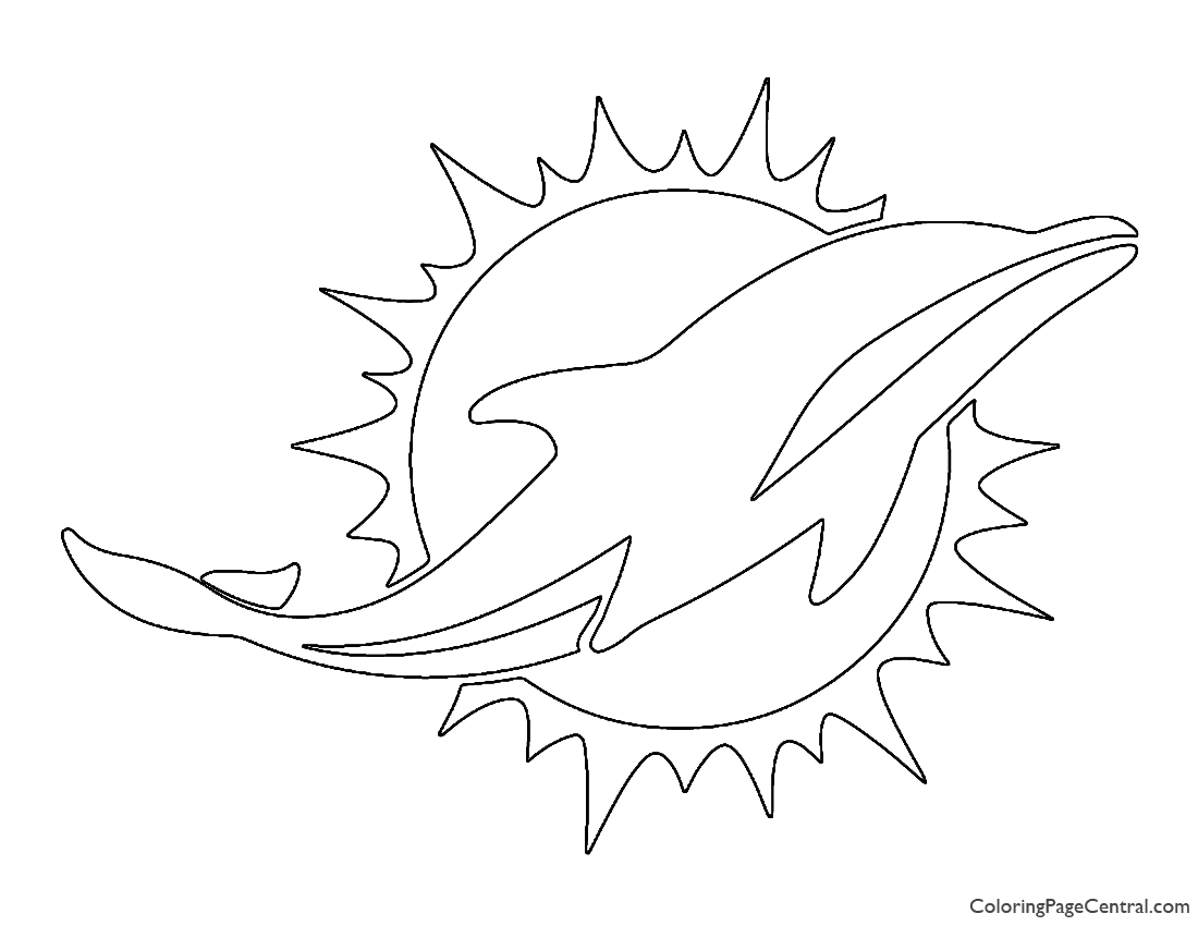 NFL Miami Dolphins Coloring Page