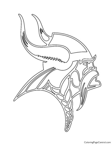 NFL Minnesota Vikings Coloring Page