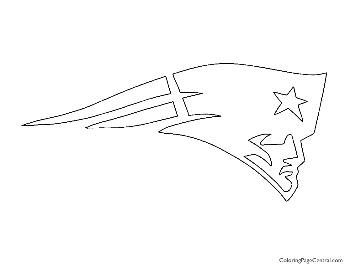 NFL New England Patriots Logo Coloring Page