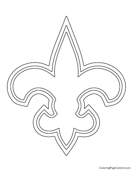 NFL New Orleans Saints Coloring Page