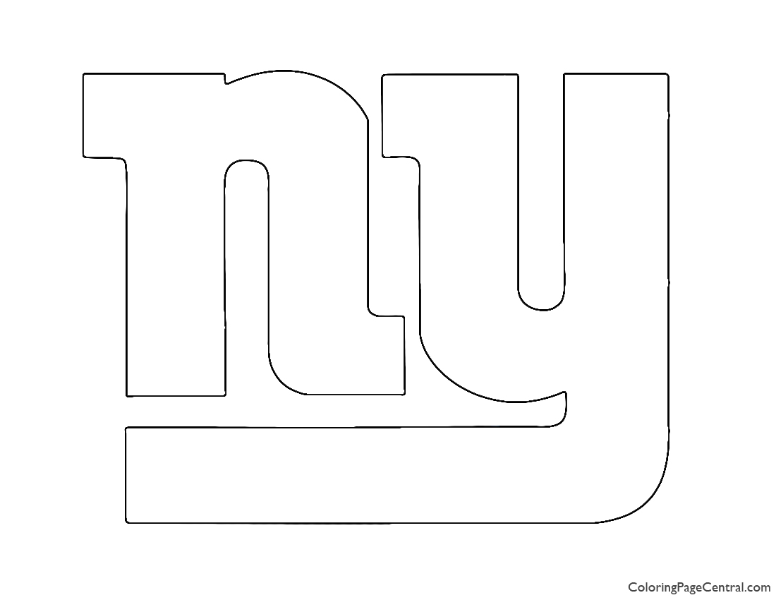 NFL New York Giants Coloring Page