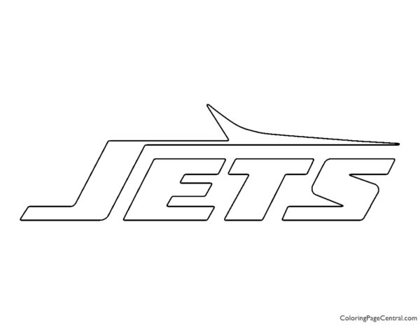 NFL New York Jets Coloring Page