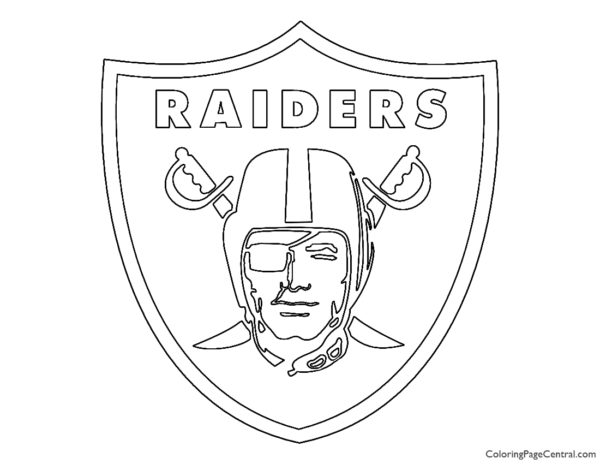 NFL Oakland Raiders Coloring Page