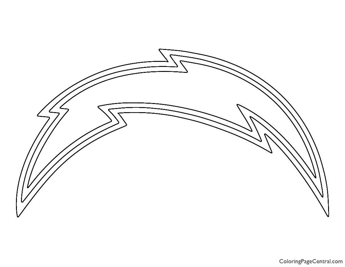 NFL San Diego Chargers Coloring Page