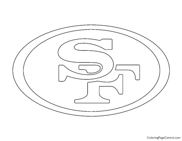 NFL San Francisco 49ers Coloring Page