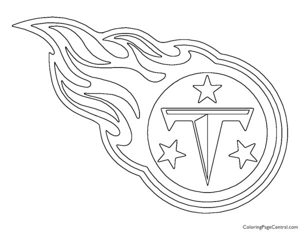 NFL Tennessee Titans Coloring Page