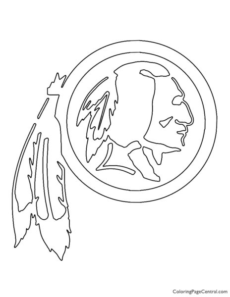 NFL Washington Redskins Coloring Page
