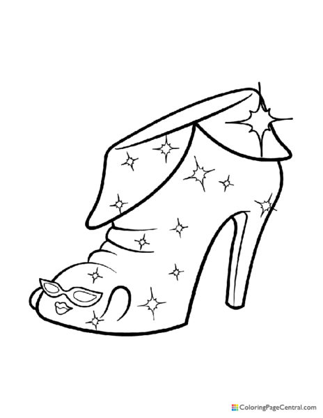 Shopkin - Angie Ankle Boot Coloring Page