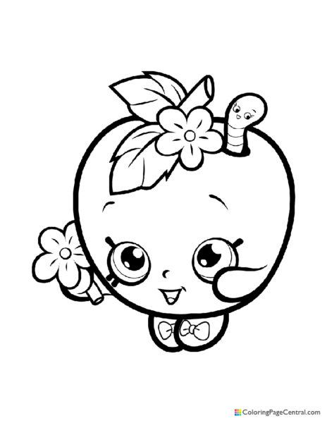 Shopkin – Apple Blossom Coloring Page