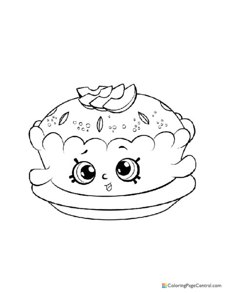 Shopkin - Apple Pie Alice Coloring Page