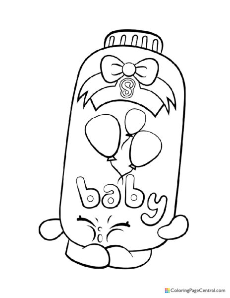 Shopkin – Baby Puff Coloring Page
