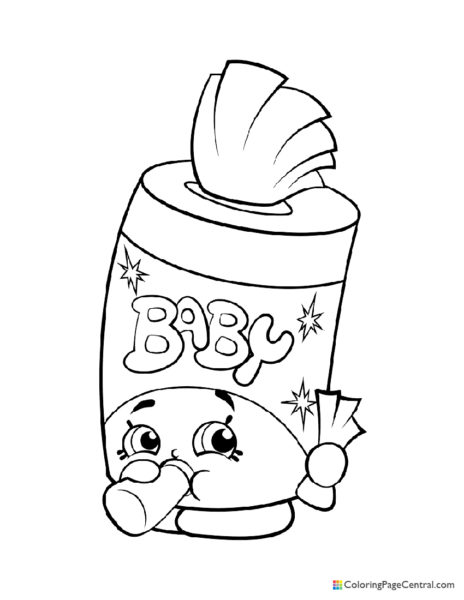 Shopkin – Baby Swipes Coloring Page
