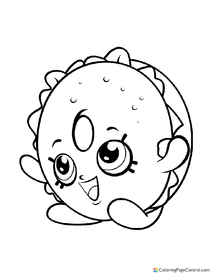 Shopkin - Bagel Billy Coloring Page