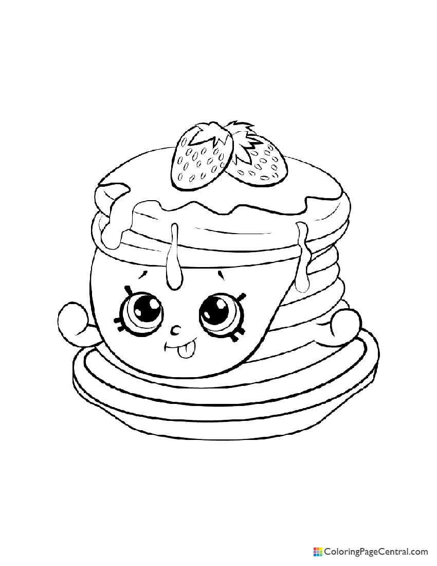 Shopkin - Berry Sweet Pancakes Coloring Page
