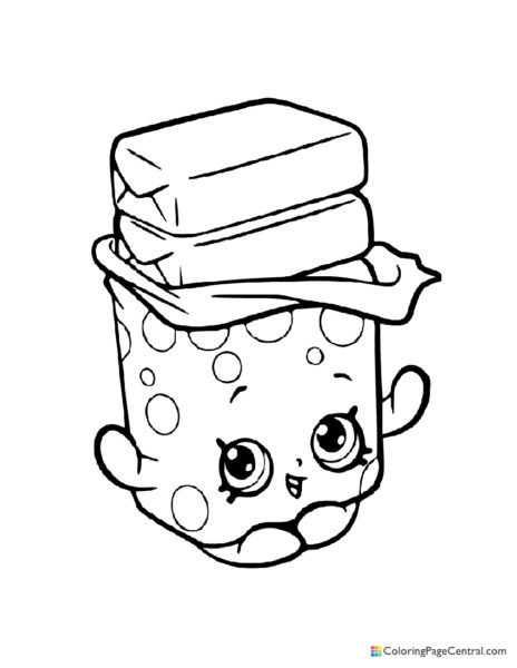 Shopkin – Bobby Bubble Gum Coloring Page