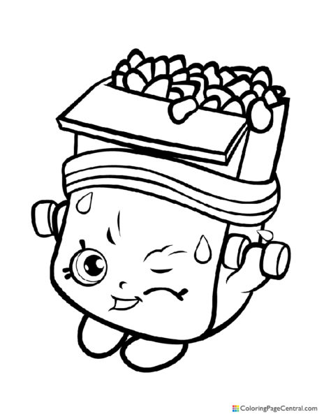 Shopkin – Breaky Crunch Coloring Page