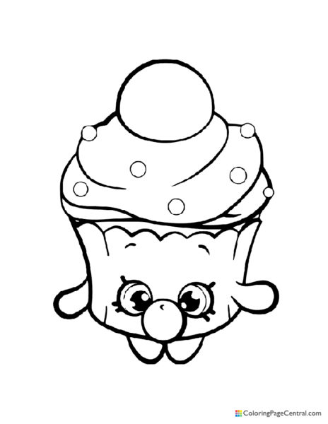 Shopkin – Bubble Cupcake Coloring Page