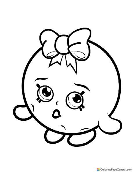 Shopkin - Bubbles Coloring Page