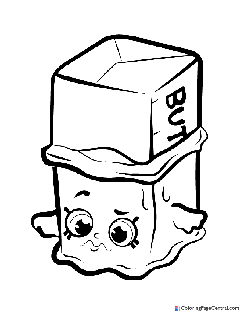 Shopkin - Buttercup Coloring Page