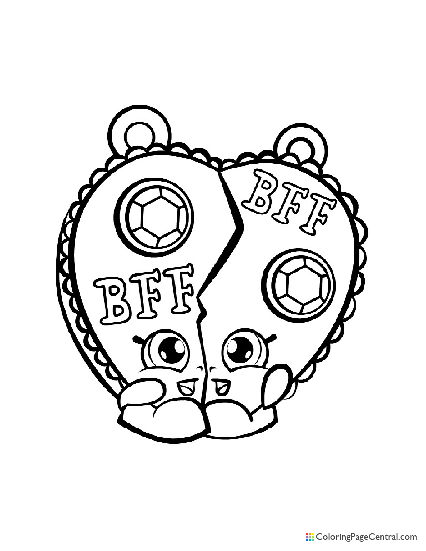 Shopkin - Chelsea Charm Coloring Page