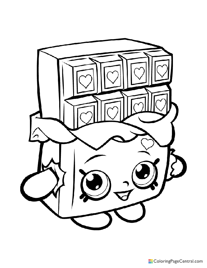 Shopkin - Chocolate Cheeky Coloring Page