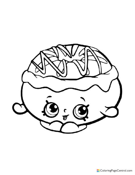 Shopkin – Chrissy Cream Coloring Page