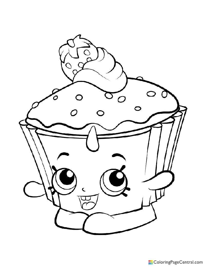 Shopkin - Cupcake Chic Coloring Page