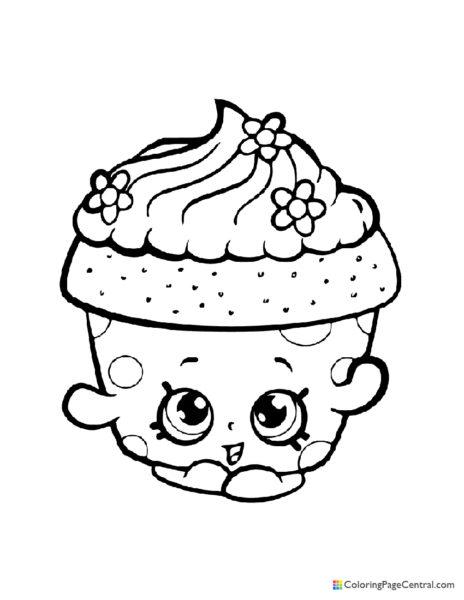 Shopkin – Cupcake Petal Coloring Page