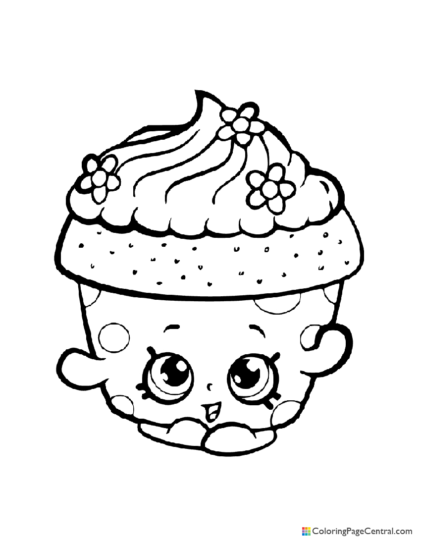 Shopkin - Cupcake Petal Coloring Page